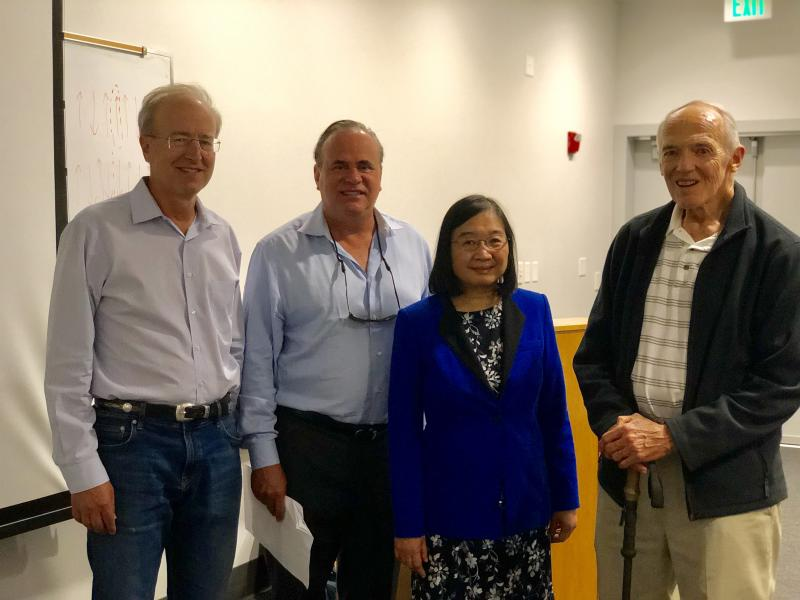 Dr. Lau is with UCSB Professors Bowers, DenBaars and Gossard