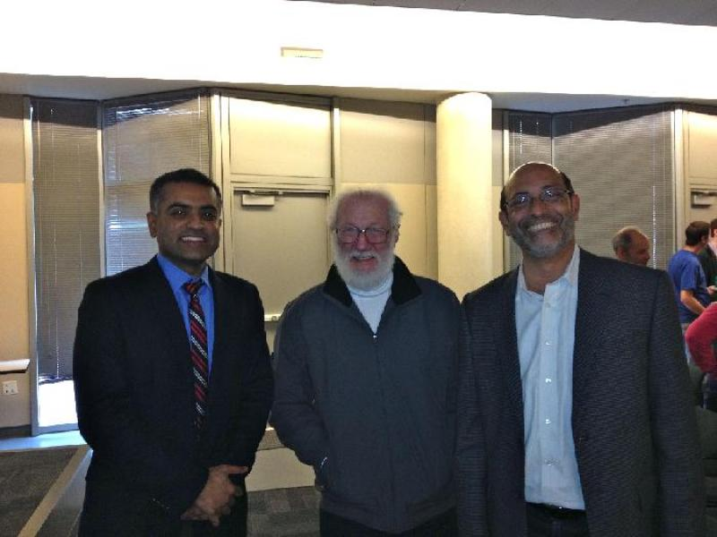 Debdeep Jena, Herbert Kroemer and Professor Umesh Mishra